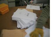 印刷済み表紙と本文